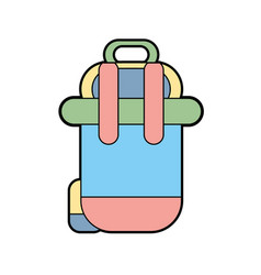 backpack to go to exploration of vacation vector image
