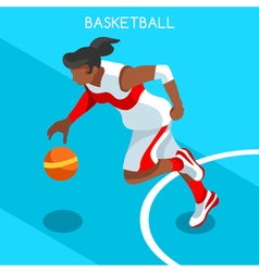 Basketball 2016 Summer Games 3D Isometric vector