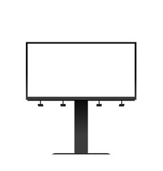 billboard mockup isolated vector image