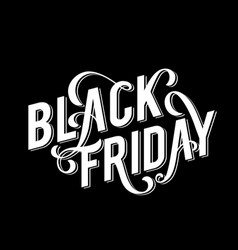 black friday sale poster with handdrawn lettering vector image