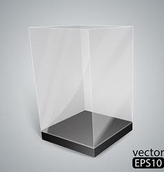Black Glass Rectangle Box vector image