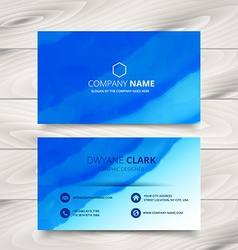 Blue business card template design made with vector