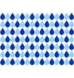Blue water drops white background vector