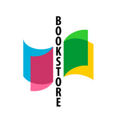 bookstore logo with colorful overlay transparent vector image