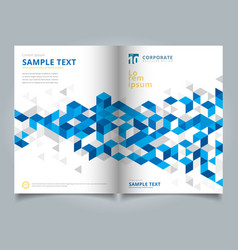 Brochure layout design template annual report vector