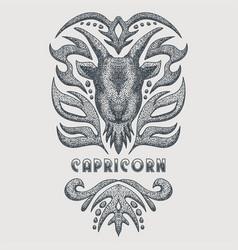 Capricorn vintage vector
