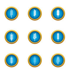 cereal icons set flat style vector image