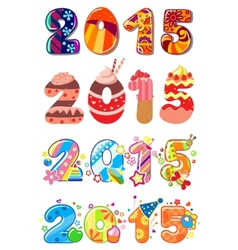 children party 2015 numbers vector image