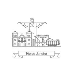 City of rio de janeiro vector