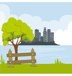 City urban design vector image