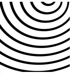 Concentric radiating circles rings radial vector