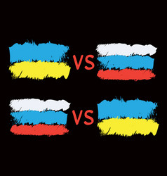 conflict between ukraine and russia vector image