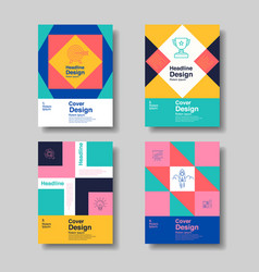 Cover design template layout design annual vector