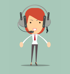 dispatcher consultant icon vector image