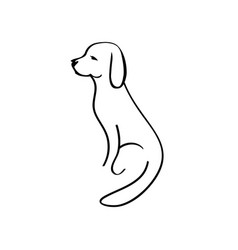 dog icon isolated on white background dog icon in vector image