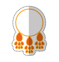 dream catcher isolated icon vector image