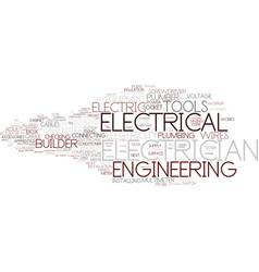 Electrician word cloud concept vector
