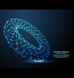 Electronic ring technology background vector