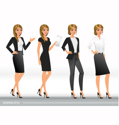 elegant business women in formal clothes vector image