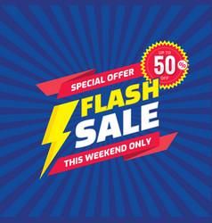 flash sale concept promotion banner template vec vector image