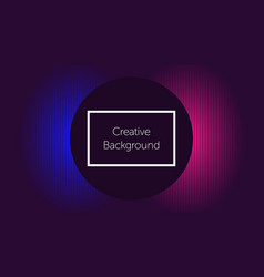 Futuristic background with circle and light vector