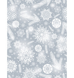 grey christmas seamless pattern background vector image