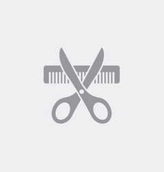 hairdresser symbol concept icon vector image
