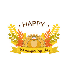 happy thanksgiving day concept background flat vector image