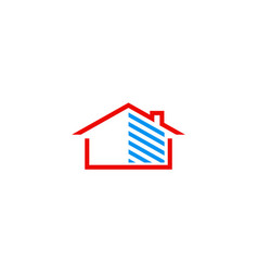 home storage logo vector image