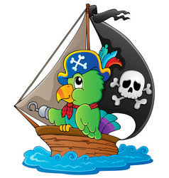 Image with pirate parrot theme 1 vector