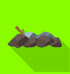 Isolated object bonfire and firewood icon set vector