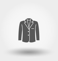 jacket icon silhouette vector image