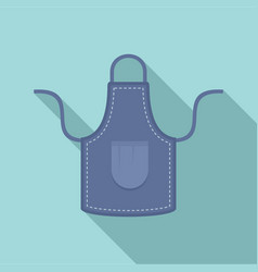 jeans apron icon flat style vector image
