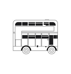 line london bus urban city transport vector image