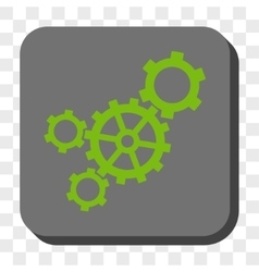 Mechanism Rounded Square Button vector