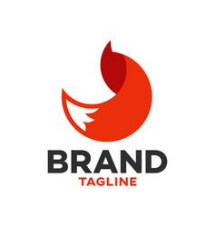 Modern logo fox in a circle vector