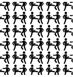 monochrome background with pattern men martial vector image