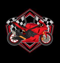 Motorcycle racing logo vector