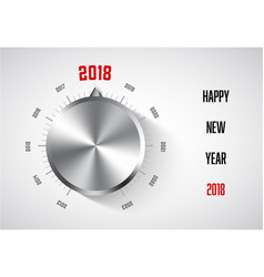 New year 2018 card template vector