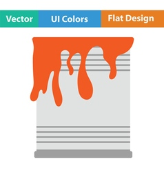 Paint can icon vector image