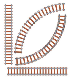 railroad or railway train tracks vector image