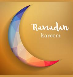 Ramadan greetings background Ramadan Kareem means vector
