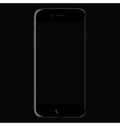Realistic black mobile iphone 7 with blank screen vector