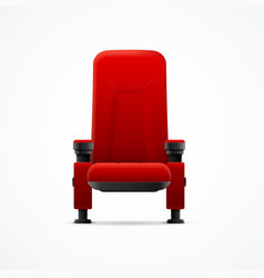 realistic detailed 3d red cinema chair vector image