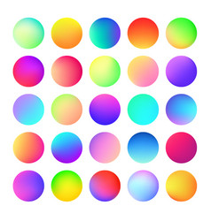 rounded holographic color gradient for button web vector image