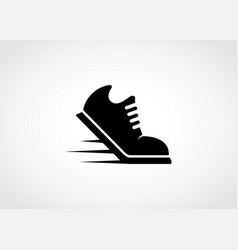 running shoes glyph icon vector image