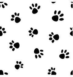 seamless pattern with cats steps from summer time vector image