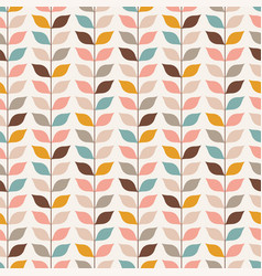 seamless retro vines leaves wallpaper pattern vector image