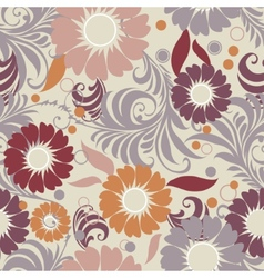 seamless vintage floral vector image vector image