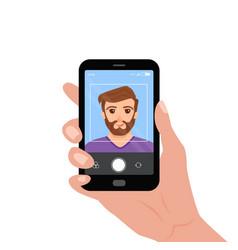 selfie colorful concept cartoon vector image